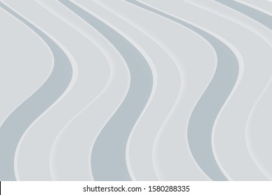 Abstract background with curve lines and waves. Paper cut illustration.