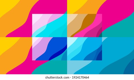Abstract background With curves and vivid colors