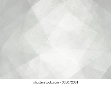 abstract background design, geometric lines angles shapes in white layers of transparent material
