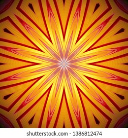Abstract background design / wallpaper pattern for decoration - creative art using Kaleidoscope effect