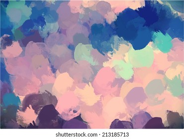 Abstract background drops colors