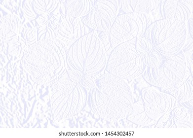 Abstract background with embossed leaves