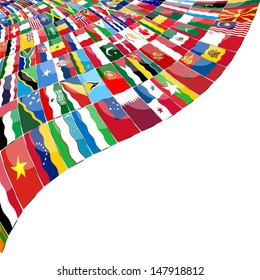 Abstract background  Flags of the WOLD