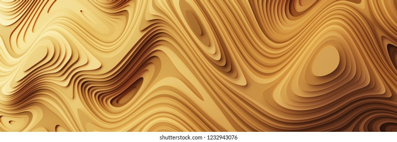 Abstract background with fluid and organic shapes. Original 3d rendering.