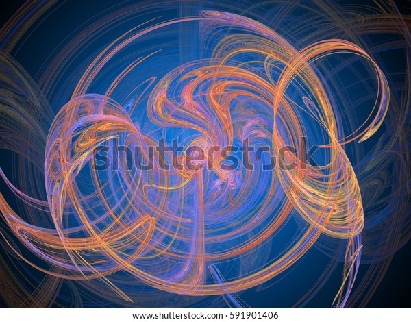 Abstract background. Fractal swirls, circles. Design element for graphics artworks