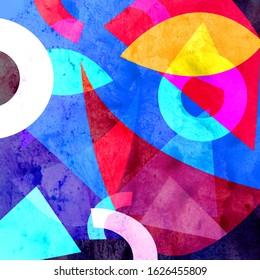 Abstract background with geometric objects and shapes. Template for web page and poster design.