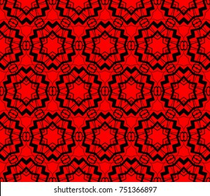 Abstract background with geometric seamless ornament