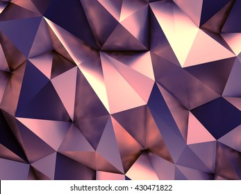 Abstract Background Gold Rose Design 3D Rendering