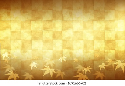 Abstract background of gold and silver and maple