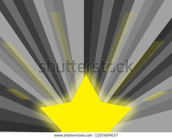 Abstract background of a grayscale burst with a bright star glowing.