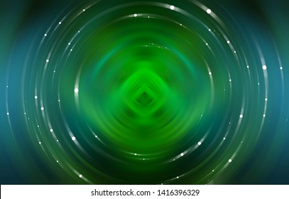Abstract background green light circle. Illustration for design.