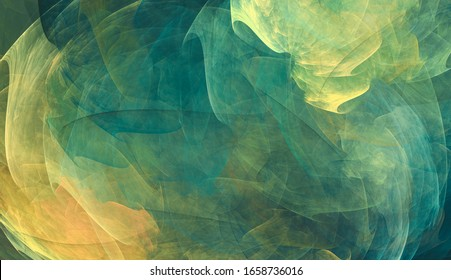 Abstract background with green and yellow tones