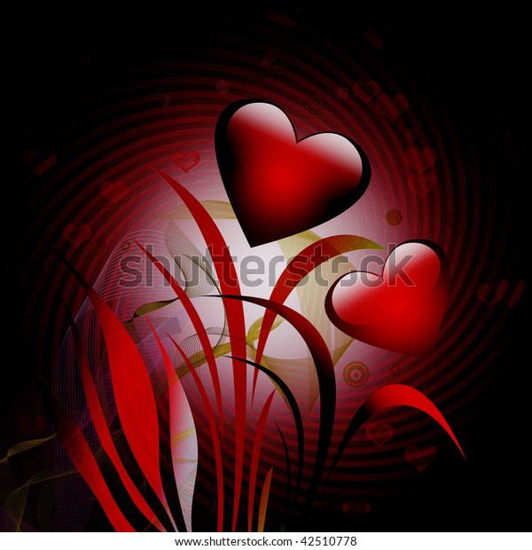 Abstract background for greeting cards for the Valentine's Day.