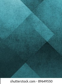 abstract background, grunge texture on dark teal blue and black design, classic old vintage layout for fancy invite or classy elegant brochure, modern blue and black shape layers in diamond pattern