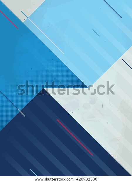 Abstract Background. Grunge texture. Triangle geometric pattern