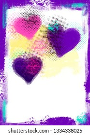 Abstract background with heart shapes