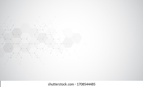 Abstract background of hexagons shape pattern. Concepts and ideas for healthcare technology, innovation medicine, health, science, and research