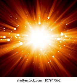 Abstract background - illustration of big explosion, catastrophe. Big bang.