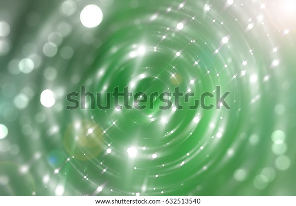 abstract background illustration digital with brilliant green circles.
