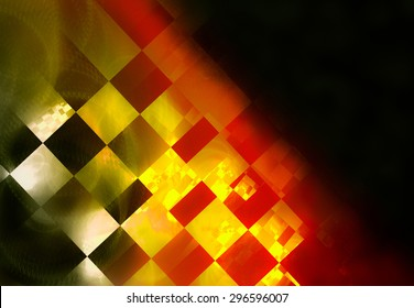 """abstract background with iridescent highlights, topics close to racing and rally, used color flags of countries hosting races. Grungy texture, is """"dirty"""" and some """"graininess"""""""