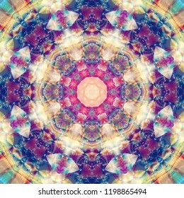 Abstract background kaleidoscopical. Illustration multicolored for design.