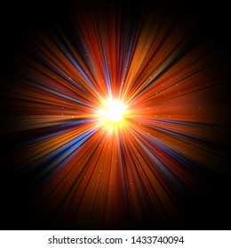 Abstract Background. Light Burst. Explosion of rays of light. Graphic illustration.