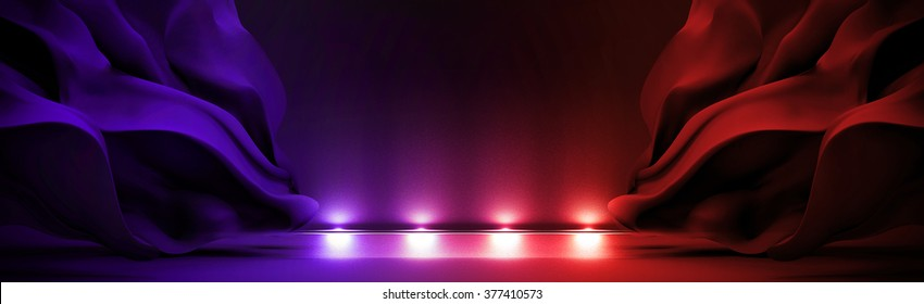 Abstract background with light and moving cloth