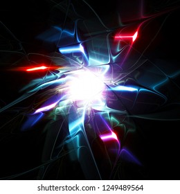 Abstract background with lighting effect.Fractal art for creative graphic design