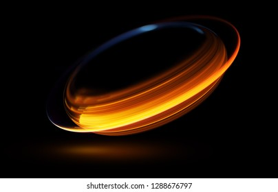 Abstract background luminous swirling Elegant glowing circle. Bright spiral Glow ribbon Empty space.  Sparking particle. Space tunnel. Glossy orbit. Colorful ellipse. Glint galaxy. Oval stage