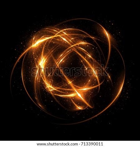 Abstract background. luminous swirling. Elegant glowing <b>circle</b>. Big ...