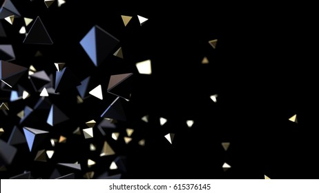 Abstract background macro particles. 3d rendering