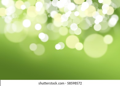 Abstract background made of green lights out of focus.