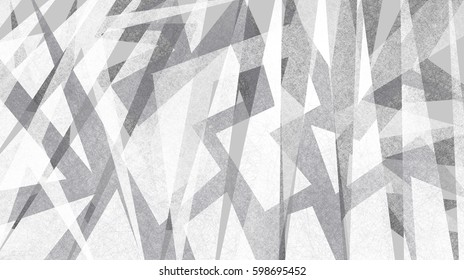 abstract background with modern design, jagged gray and white pieces of triangles and angles in random artsy pattern