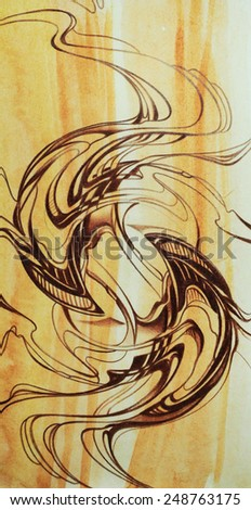 abstract background modern style art nouveau stock illustration