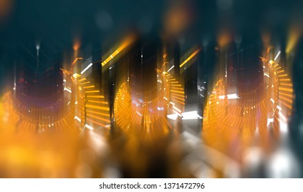 Abstract background multicolor tunnel. Illustration beautiful.