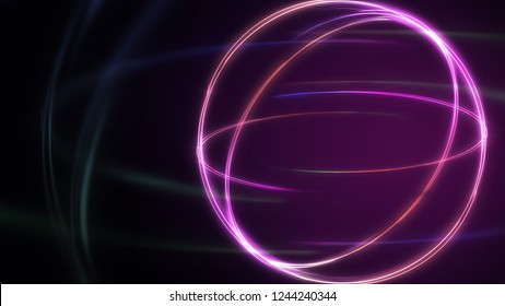 Abstract background Neon light Concept