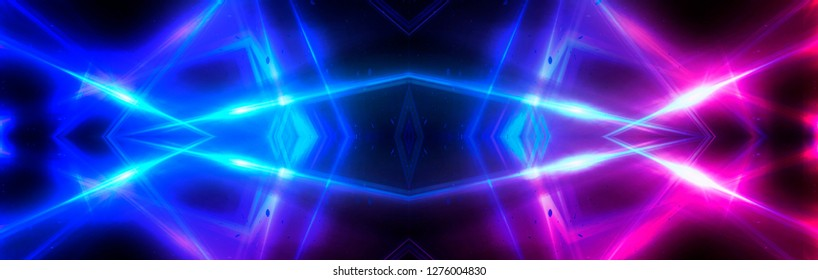 Abstract background neon with lines and glow