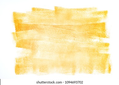 abstract background with orange paint strokes. strokes of paint roller on wall