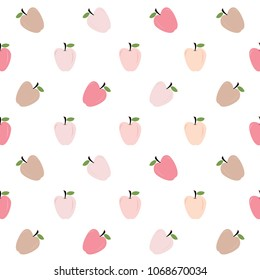 Abstract background pattern of colorful apples.