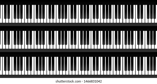 Abstract background with piano keys illustration.