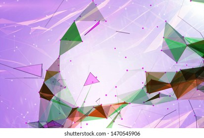 Abstract background polygonal. Bright violet digital illustration with triangles.