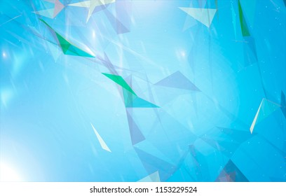 Abstract background polygons. Lines plexus in style minimalism. Digital blue geometric illustration with triangles.