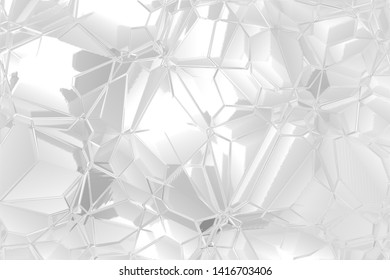 Abstract background of polygons. Shades of gray texture on white background.