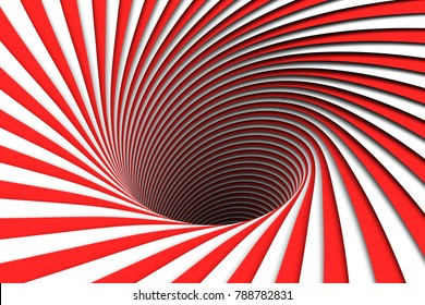 abstract background red lines black hole 3d illustration