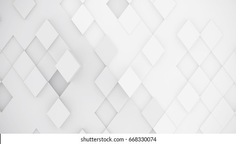 Abstract background of rhombuses. Gray color. 3d rendering.