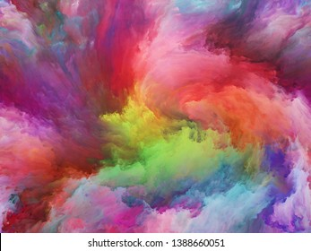 Abstract Background series. Abstract arrangement of Color and movement on canvas suitable for projects on art, creativity and imagination