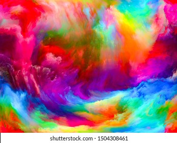 Abstract Background series. Artistic background made of Color and movement on canvas for use with projects on art, creativity and imagination