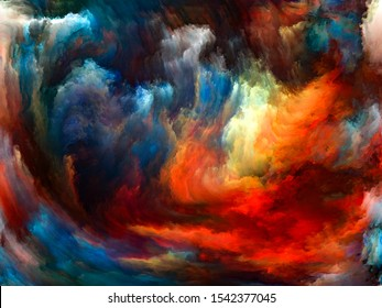 Abstract Background series. Backdrop composed of Color and movement on canvas for use in the projects on art, creativity and imagination