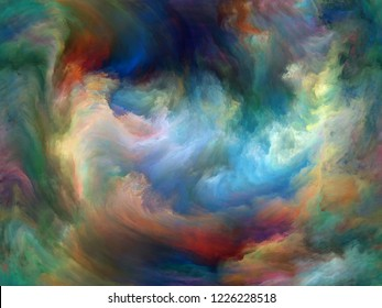 Abstract Background series. Composition of Color and movement on canvas with metaphorical relationship to art, creativity and imagination