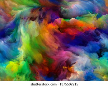Abstract Background series. Background composition of  Color and movement on canvas on the subject of art, creativity and imagination